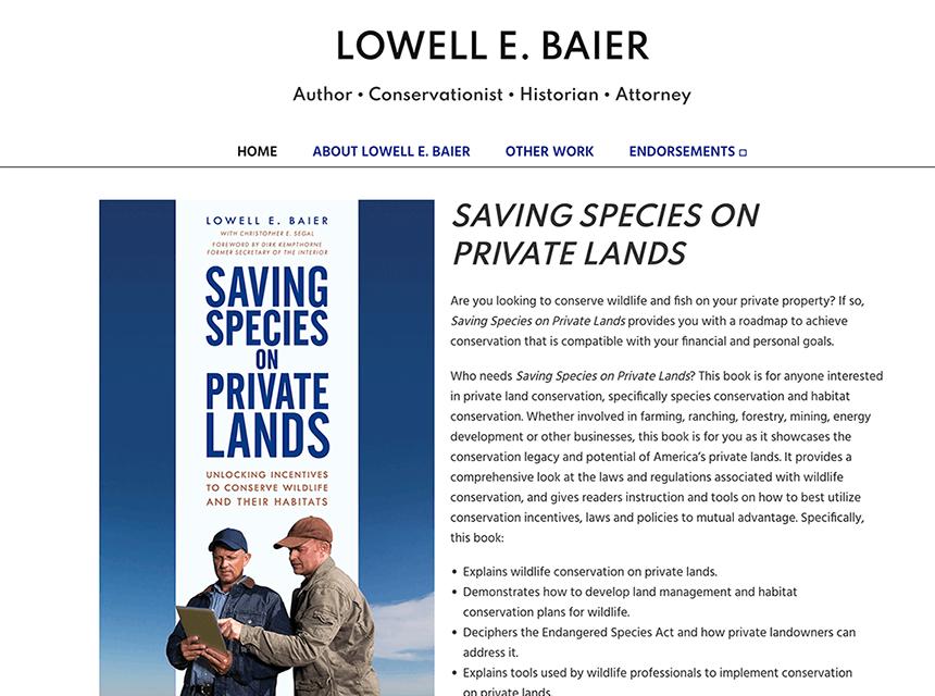 Lowell Baier Website