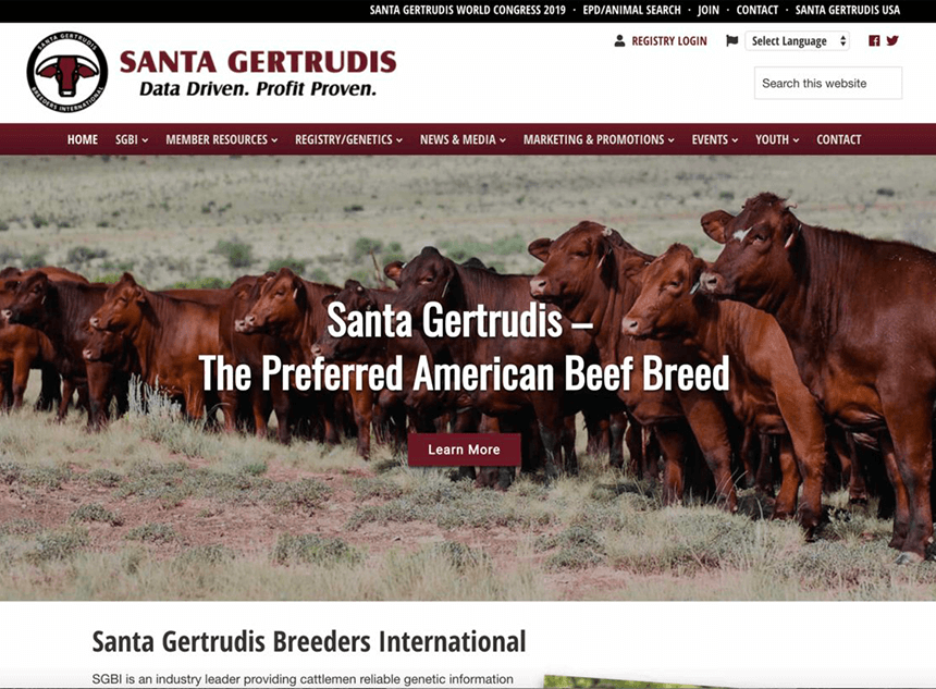 Santa Gertrudis home page